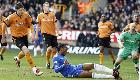 Frustrated: Wolves 0 Chelsea 2