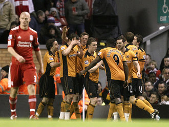 Liverpool 0 Wolves 1