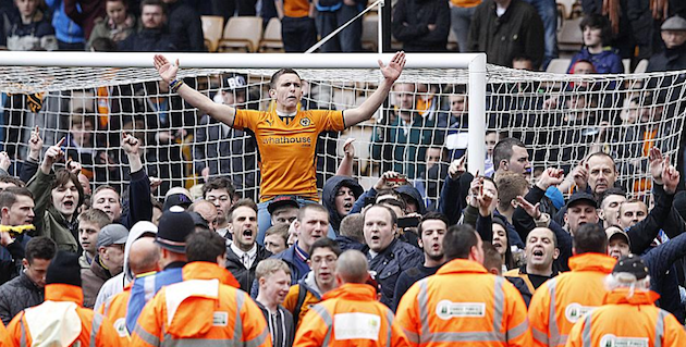 Wolves fans Burnley
