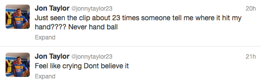 Jon Taylor Tweet