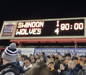Swindon Town 1 Wolves 4