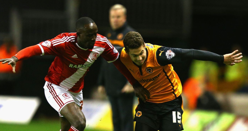 Wolves 2 Middlesbrough 0