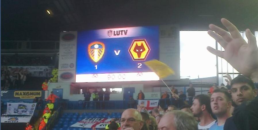 Leeds United 1 Wolves 2