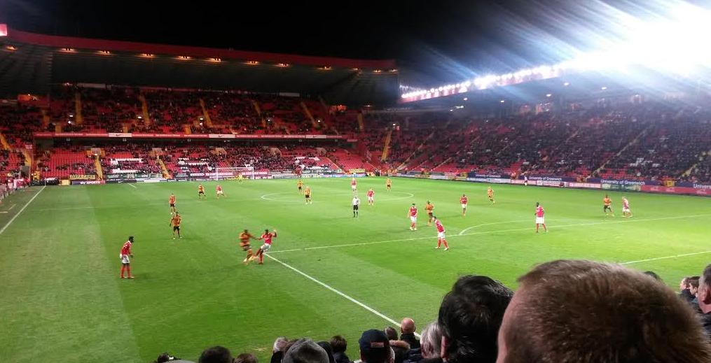 Away end Charlton